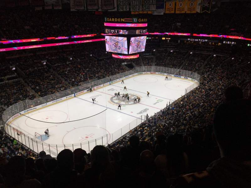 Seating view for TD Garden Section Bal 305 Row 13 Seat 17