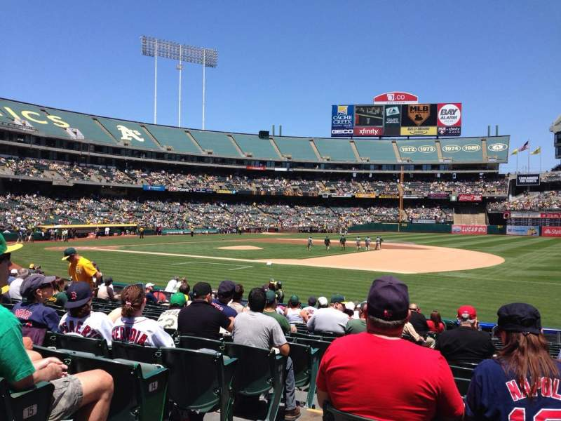Seating view for Oakland Alameda Coliseum Section 109 Row 17 Seat 16