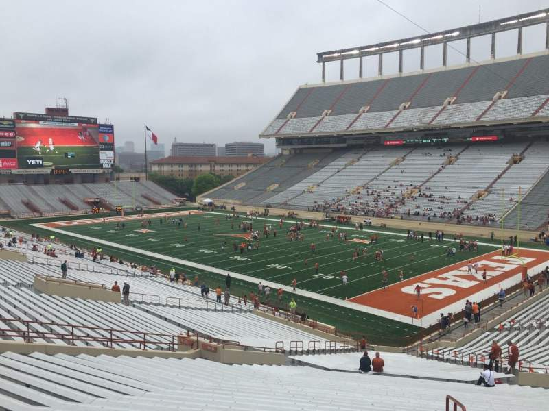 Seating view for Texas Memorial Stadium Section 19 Row 51 Seat 25