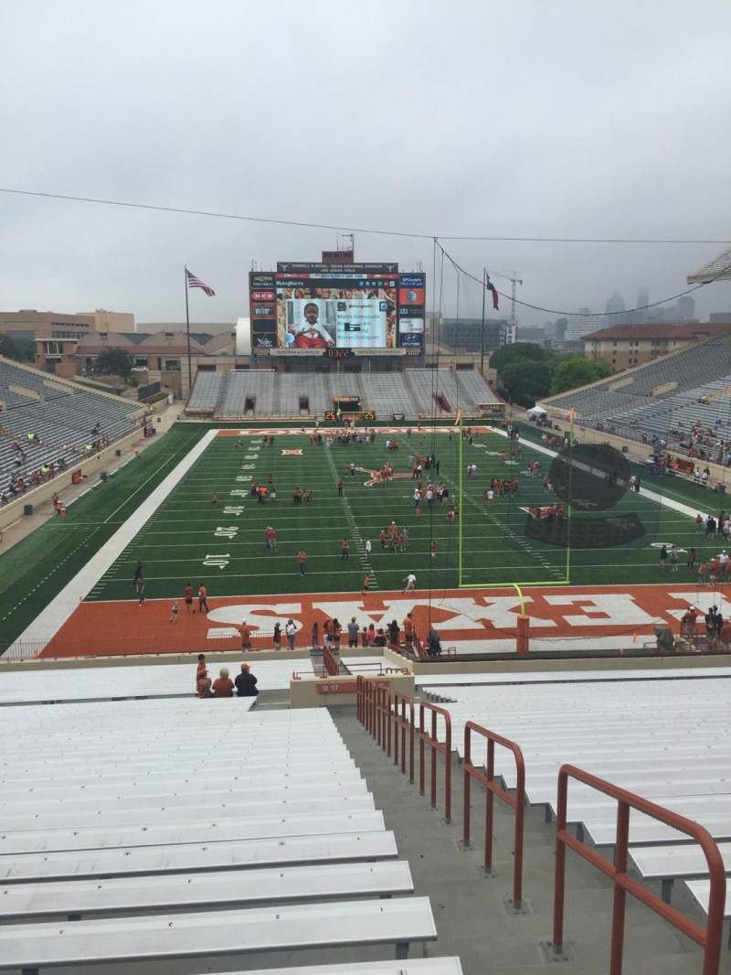 Seating view for Texas Memorial Stadium Section 17 Row 51 Seat 25