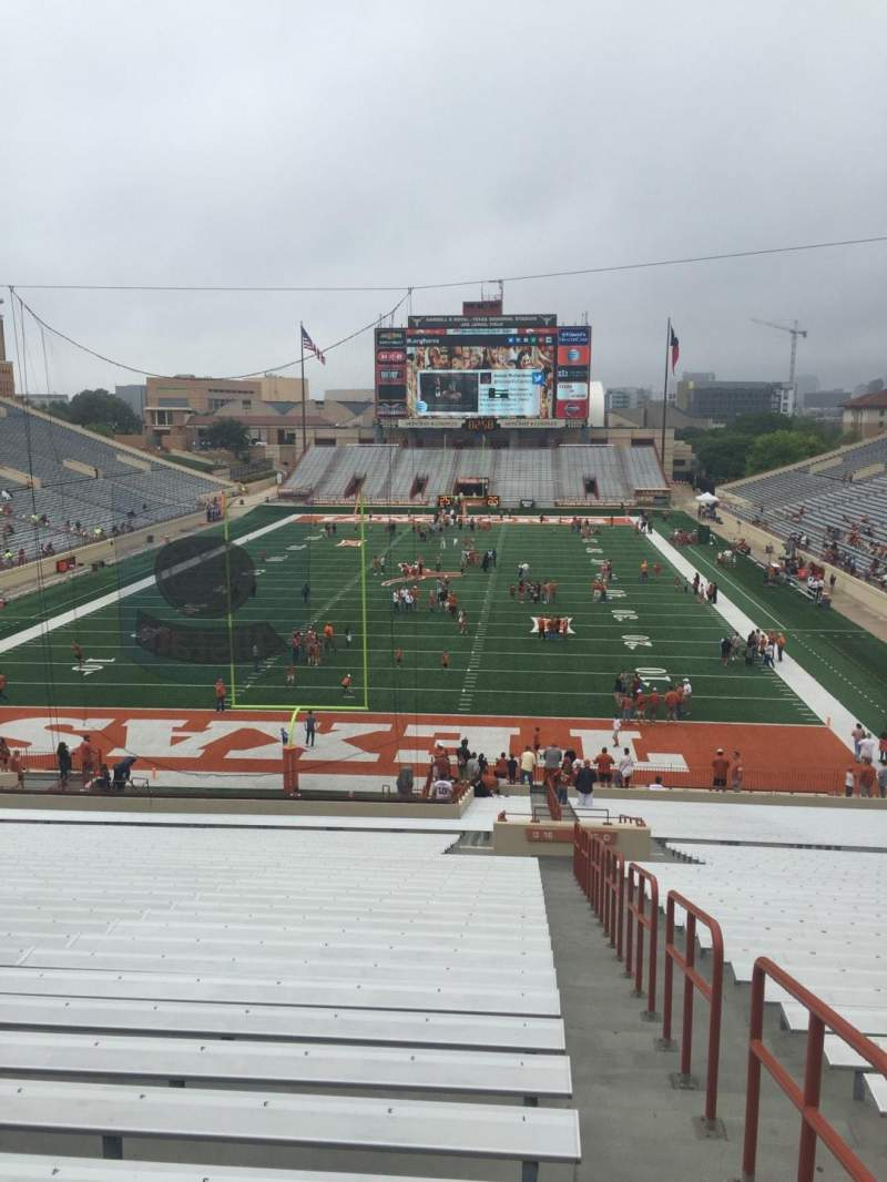 Seating view for Texas Memorial Stadium Section 16 Row 51 Seat 1