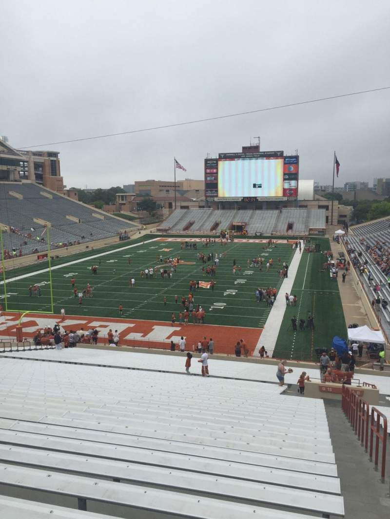 Seating view for Texas Memorial Stadium Section 15 Row 51 Seat 1