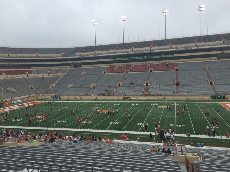 Seating view for Texas Memorial Stadium Section 4 Row 51 Seat 25