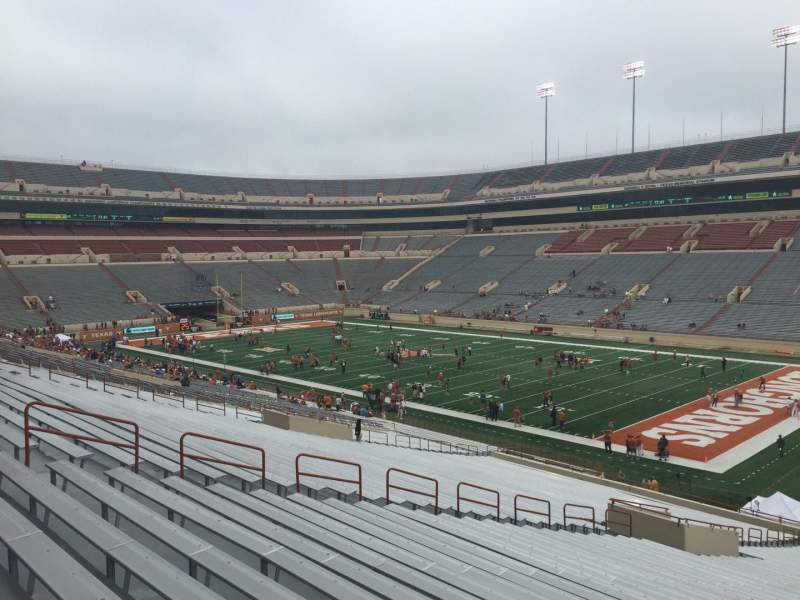 Seating view for Texas Memorial Stadium Section 1 Row 51 Seat 1