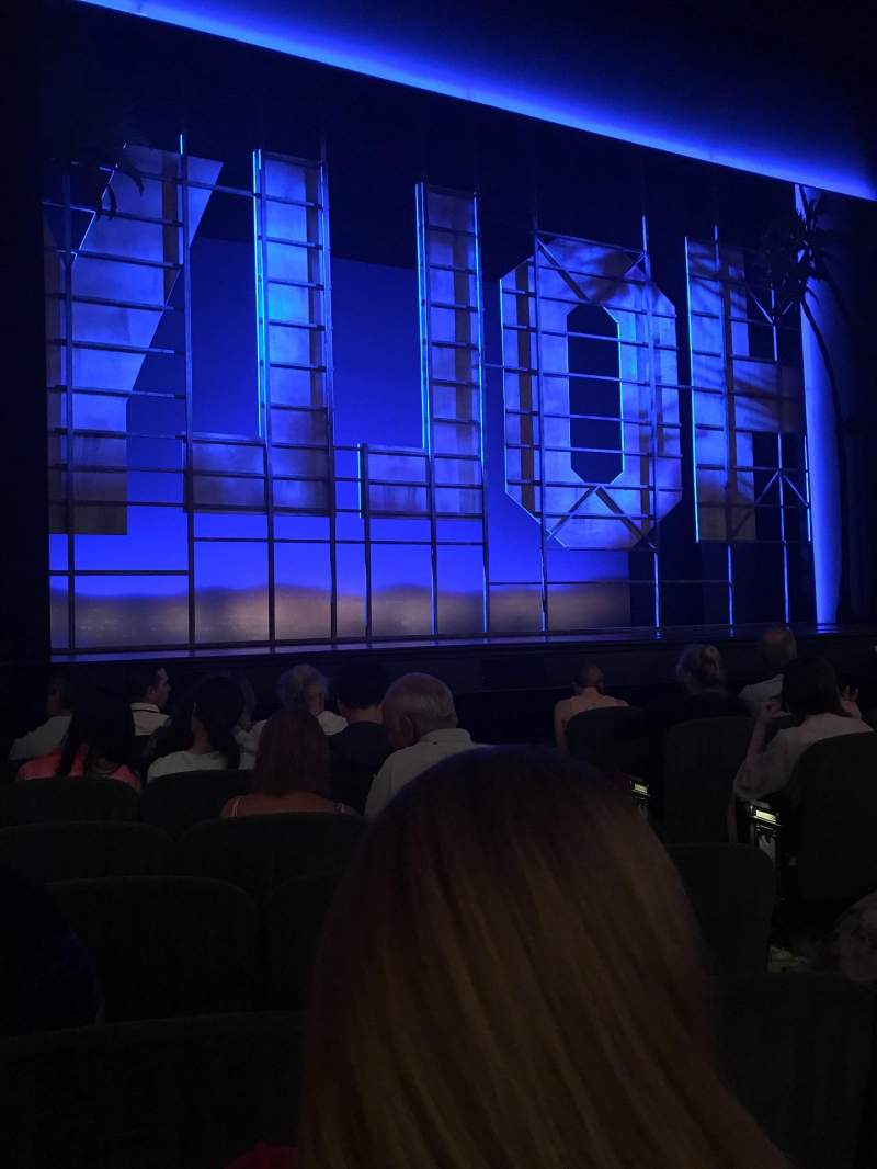 Seating view for Nederlander Theatre Section Orchestra L Row H Seat 7