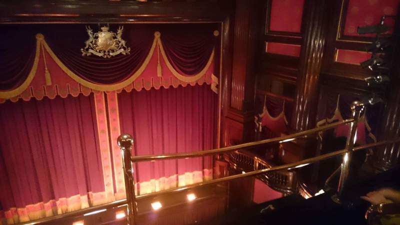 Seating view for St. Martins Theatre Section Upper Circle Row A Seat 11