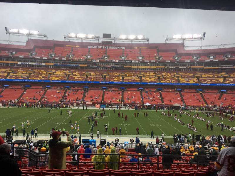 Seating view for FedEx Field Section 221 Row 8 Seat 14
