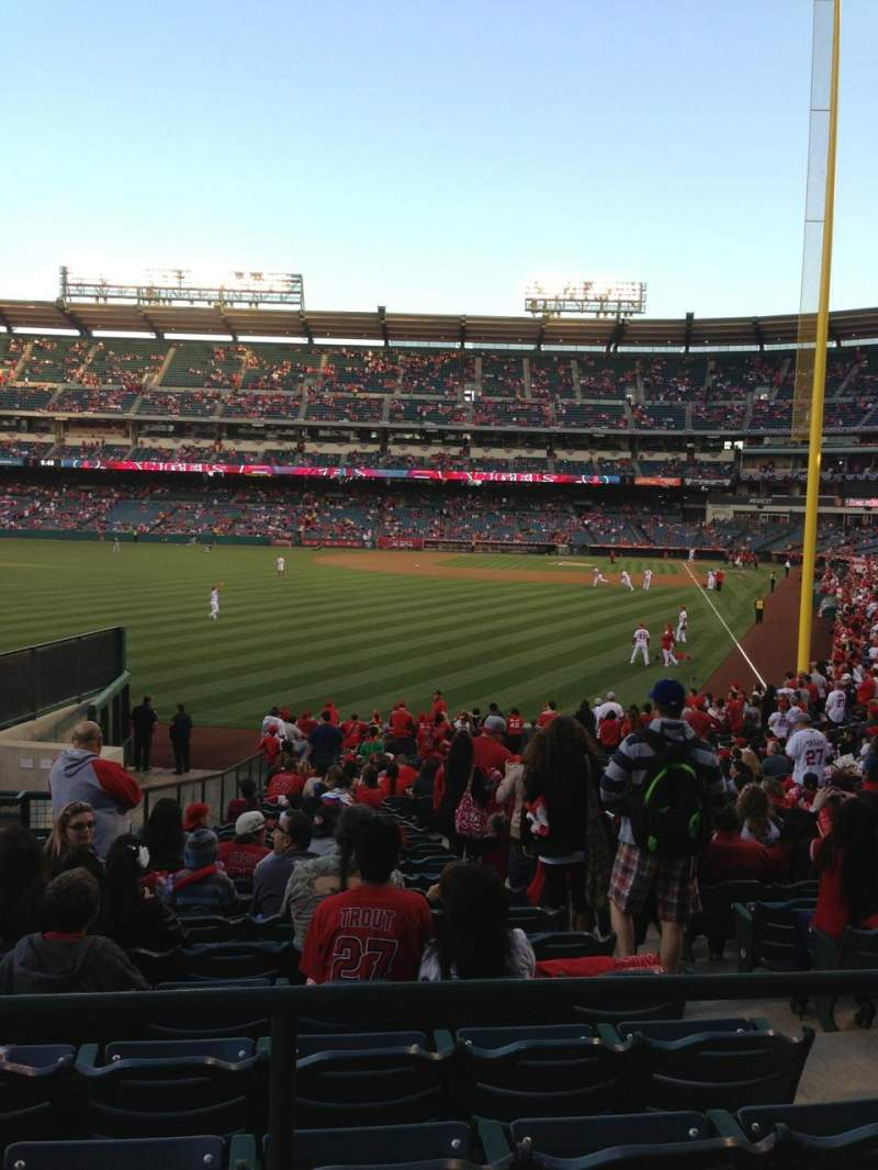 Seating view for Angel Stadium Section T201 Row A Seat 2