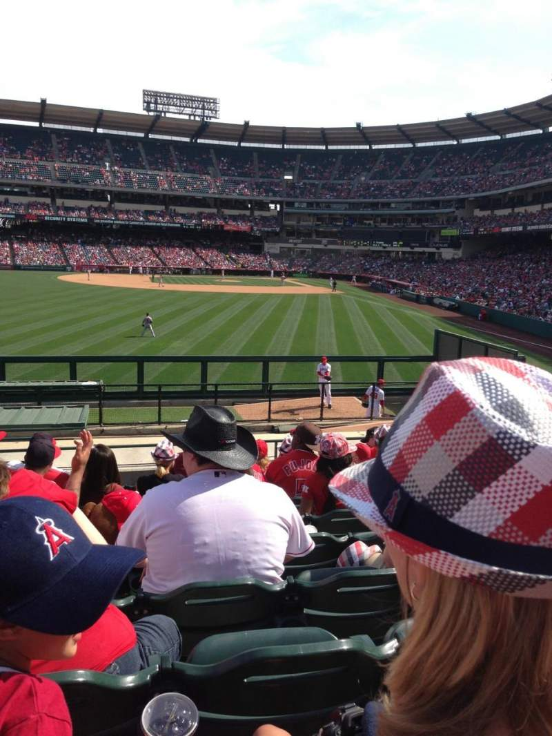 Seating view for Angel Stadium Section 259 Row S Seat 2