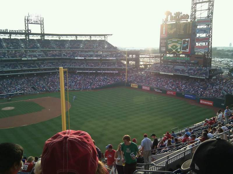 Seating view for Citizens Bank Park Section 306 Row 18 Seat 6