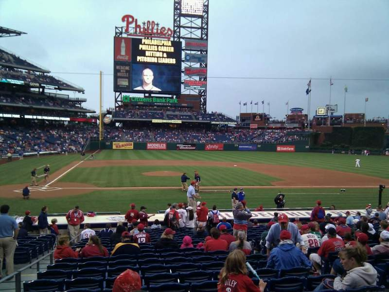 Seating view for Citizens Bank Park Section 118 Row 21 Seat 6