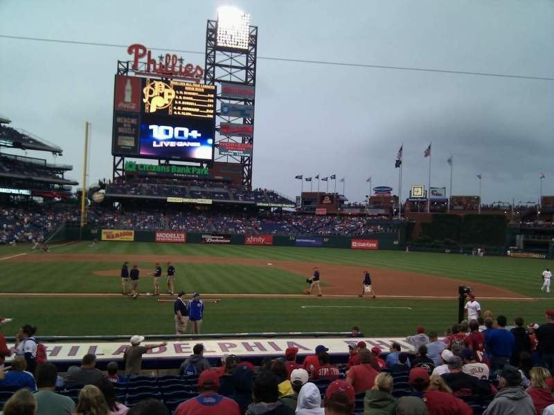 Seating view for Citizens Bank Park Section 117 Row 14 Seat 14