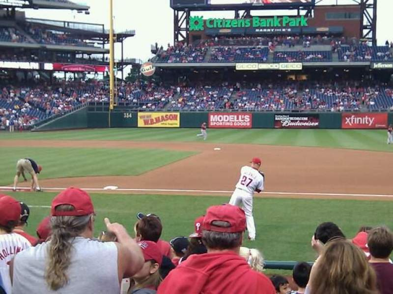 Seating view for Citizens Bank Park Section 115 Row 6 Seat 13