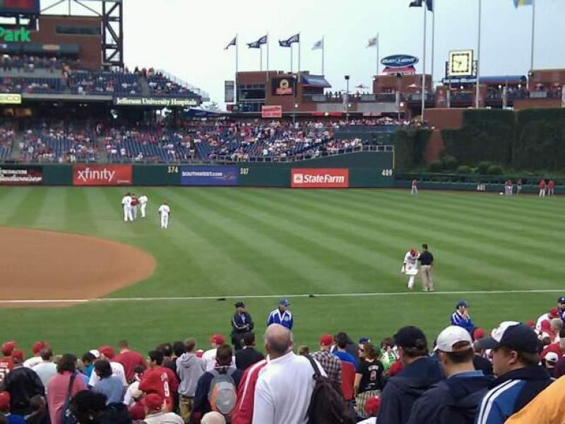 Seating view for Citizens Bank Park Section 115 Row 24 Seat 3