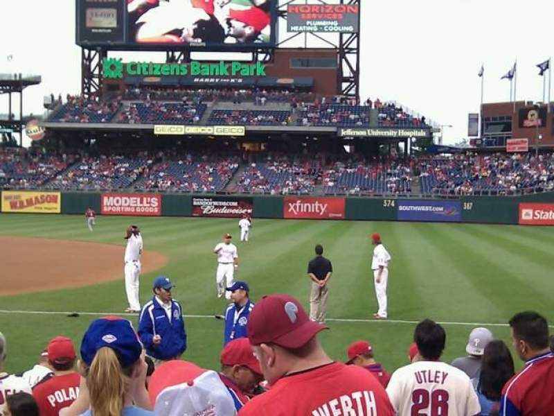 Seating view for Citizens Bank Park Section 113 Row 10 Seat 8