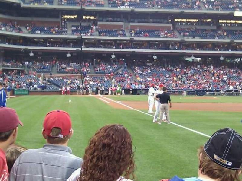 Seating view for Citizens Bank Park Section 109 Row 3 Seat 15