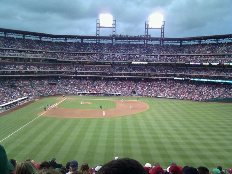 Seating view for Citizens Bank Park Section 203 Row 11 Seat 15