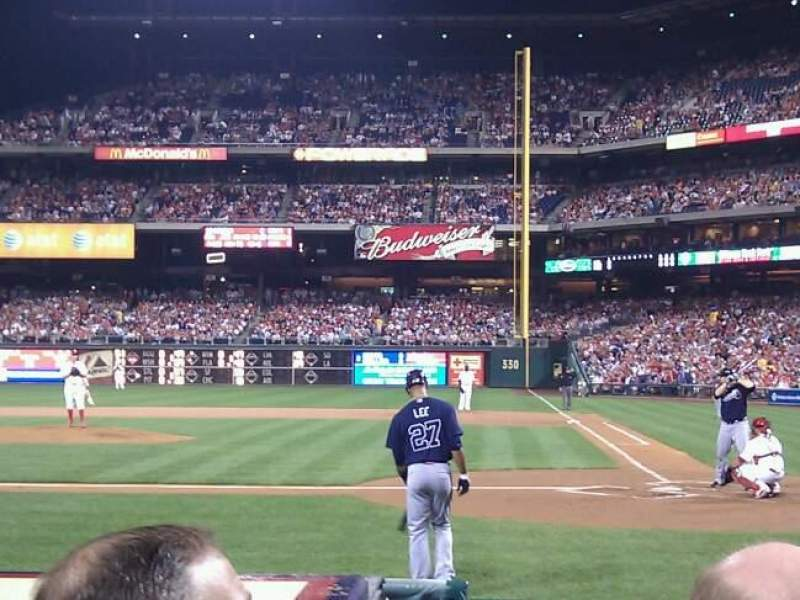 Citizens Bank Park, section: A, row: 7, seat: 8
