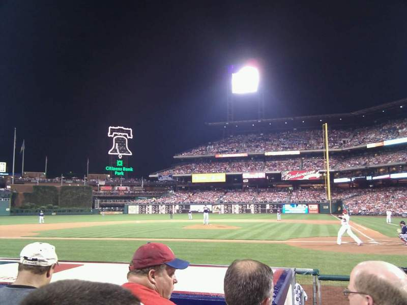 Seating view for Citizens Bank Park Section A Row 7 Seat 8
