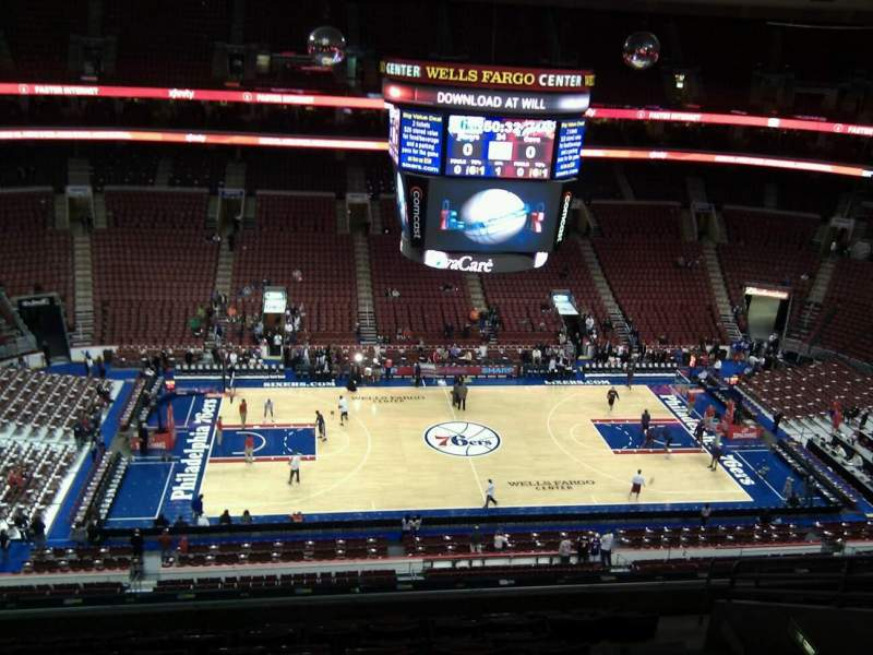 Seating view for Wells Fargo Center Section 212 Row 10 Seat 13