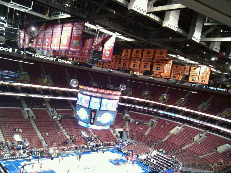 Seating view for Wells Fargo Center Section 210 Row 13 Seat 7