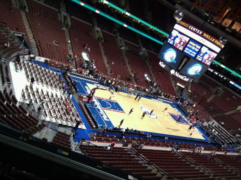 Seating view for Wells Fargo Center Section 209 Row 4 Seat 7