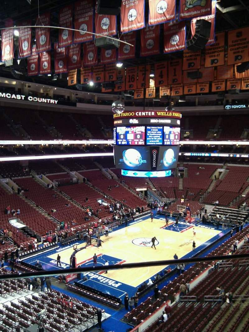 Seating view for Wells Fargo Center Section 209 Row 1 Seat 9