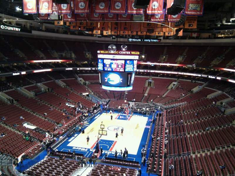 Seating view for Wells Fargo Center Section 208 Row 7 Seat 1