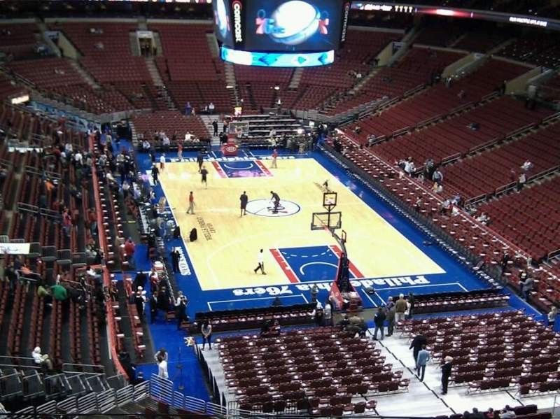Seating view for Wells Fargo Center Section 206 Row 3 Seat 6