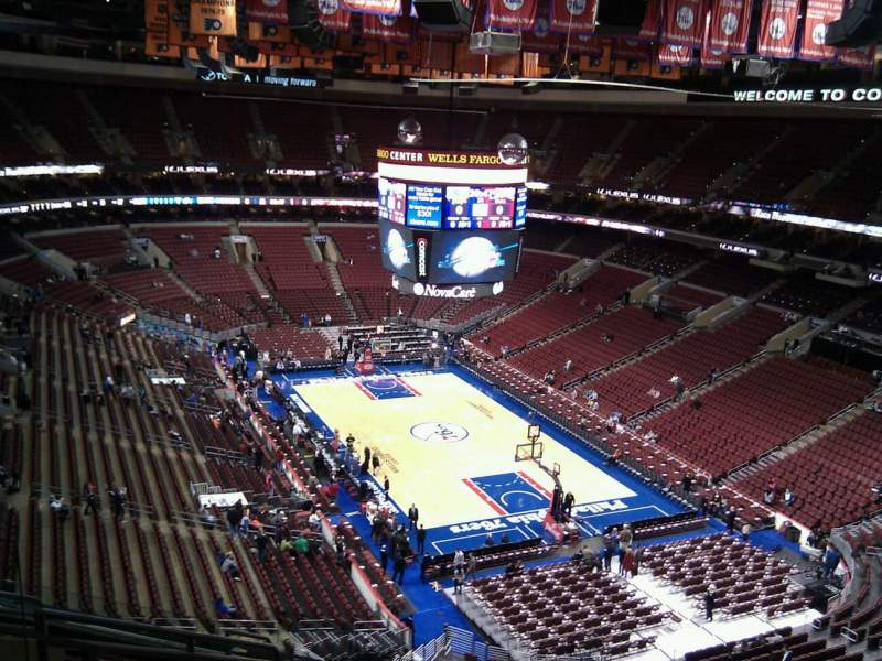 Seating view for Wells Fargo Center Section 205a Row 10 Seat 6
