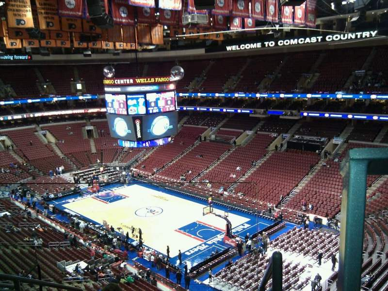 Seating view for Wells Fargo Center Section 205 Row 8 Seat 1