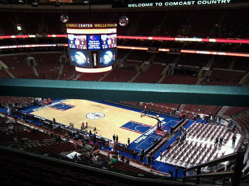 Seating view for Wells Fargo Center Section 204 Row 8 Seat 15