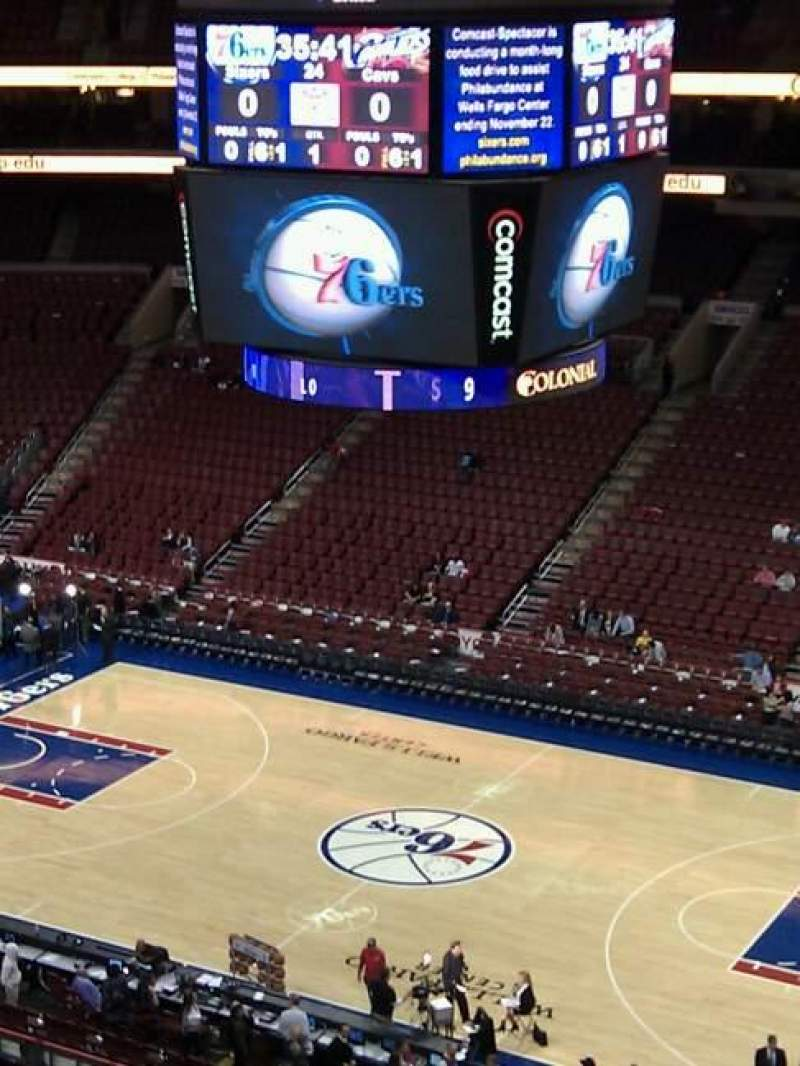 Seating view for Wells Fargo Center Section 203 Row 5 Seat 8