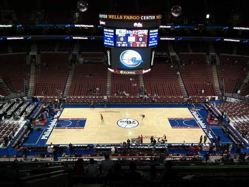 Seating view for Wells Fargo Center Section 201 Row 10 Seat 4
