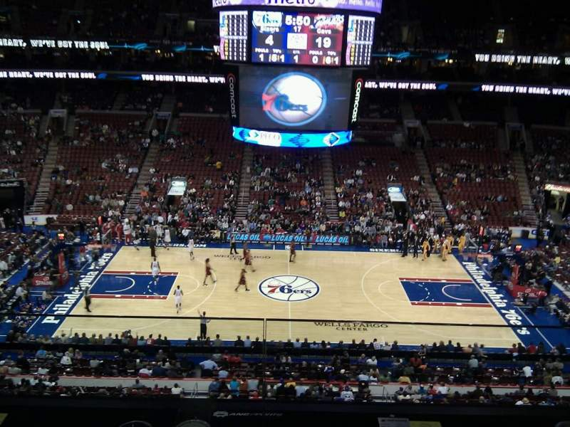 Seating view for Wells Fargo Center Section 213 Row 2 Seat 6