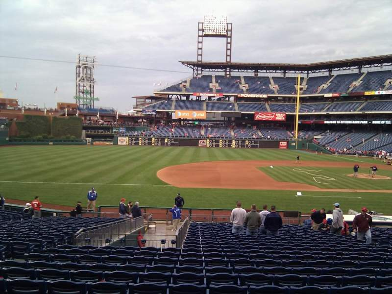 Seating view for Citizens Bank Park Section 132 Row 28 Seat 12