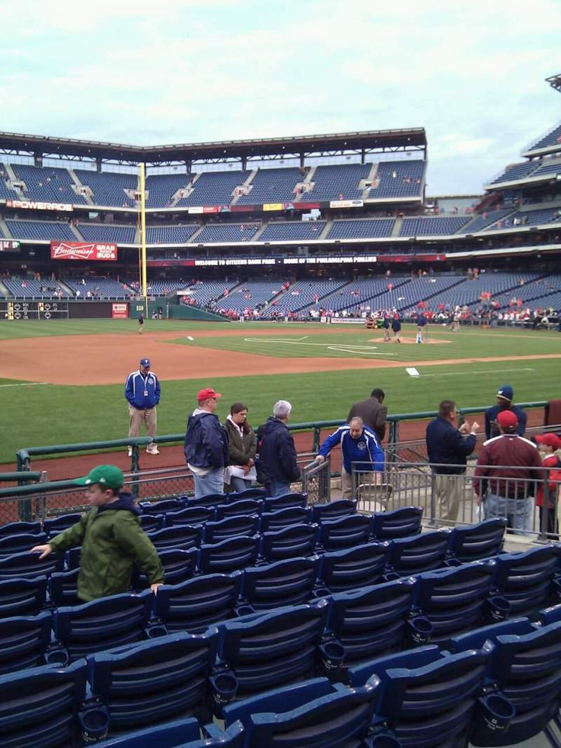 Seating view for Citizens Bank Park Section 133 Row 10 Seat 8