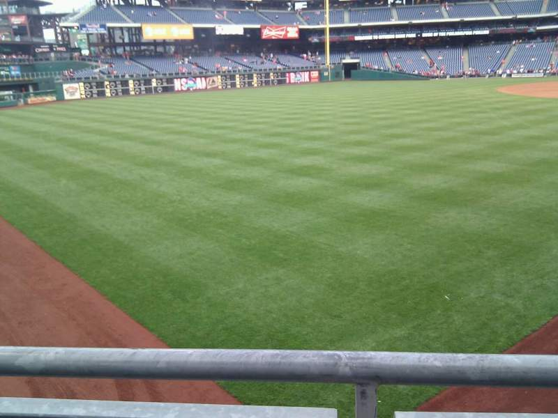Seating view for Citizens Bank Park Section 140 Row 23 Seat 4