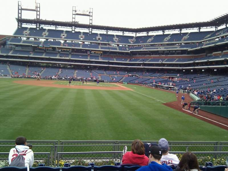 Seating view for Citizens Bank Park Section 141 Row 6 Seat 13