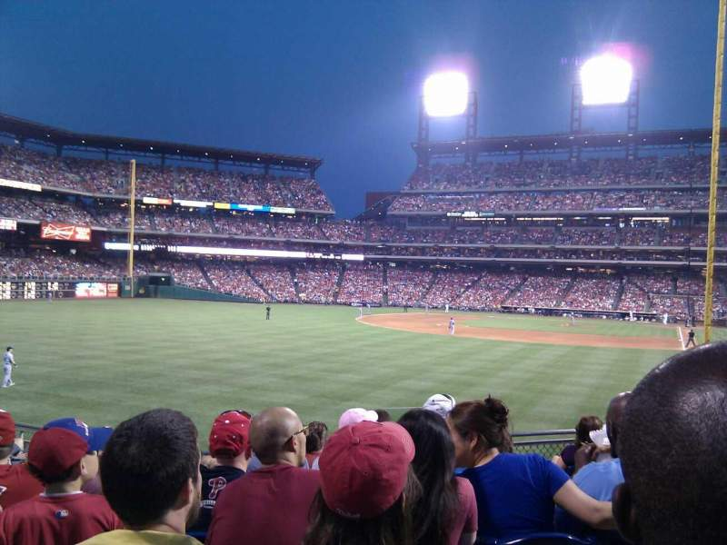 Seating view for Citizens Bank Park Section 141 Row 17 Seat 5
