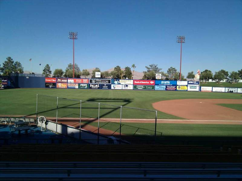 Seating view for Cashman Field Section 5 Row q Seat 10