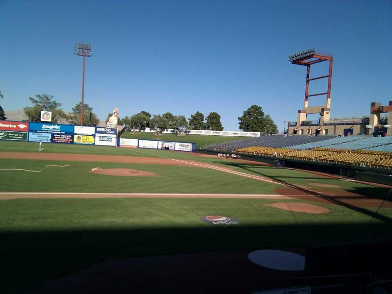 Seating view for Cashman Field Section 7 Row d Seat 3