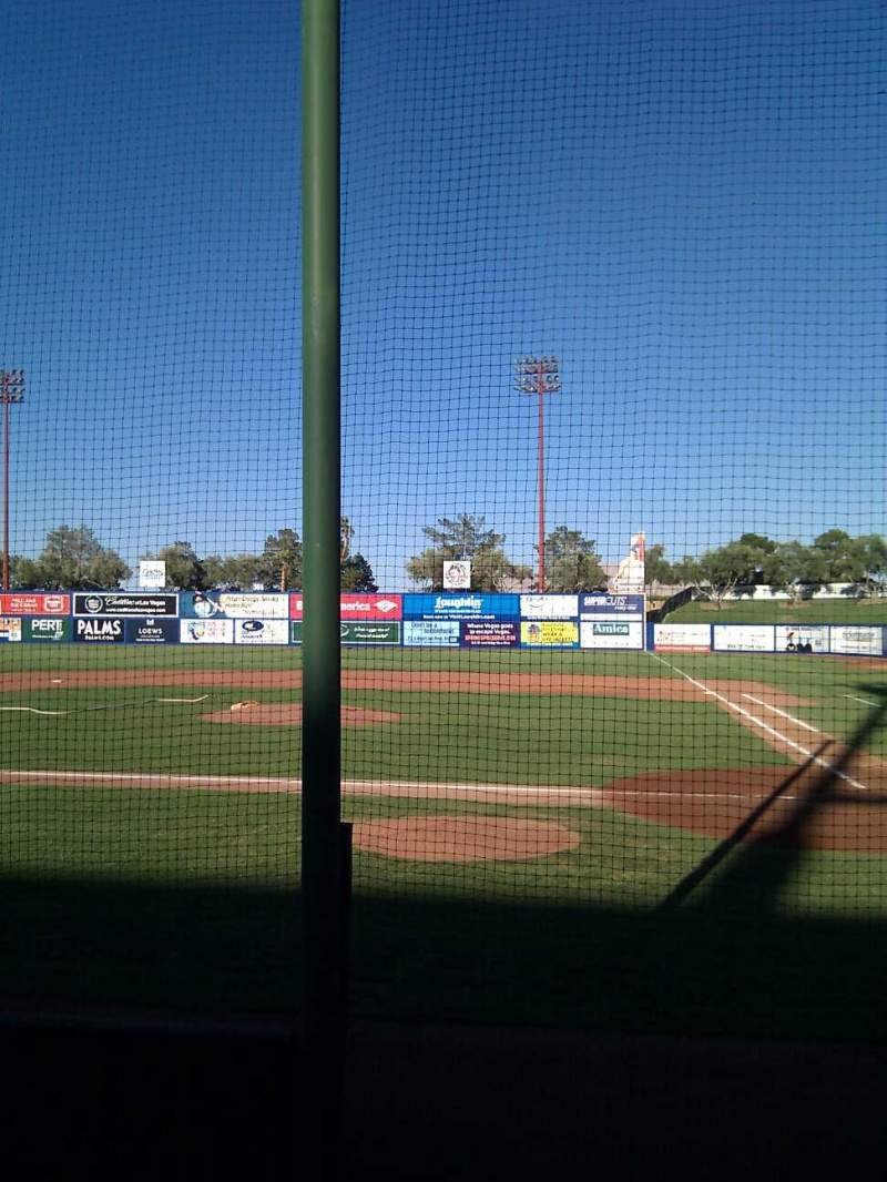 Seating view for Cashman Field Section 9 Row a Seat 8