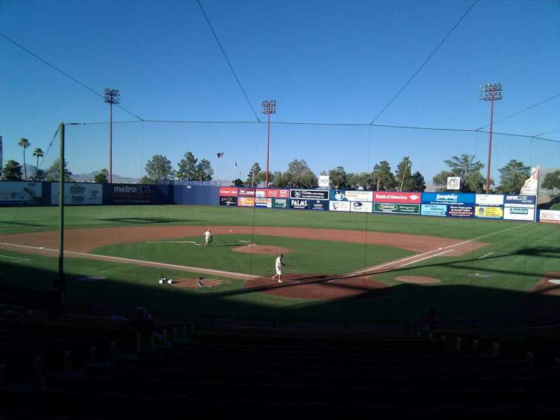 Seating view for Cashman Field Section 11 Row t Seat 9