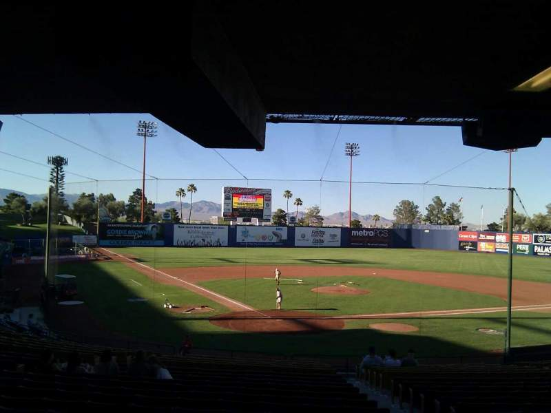 Seating view for Cashman Field Section 13 Row w Seat 13