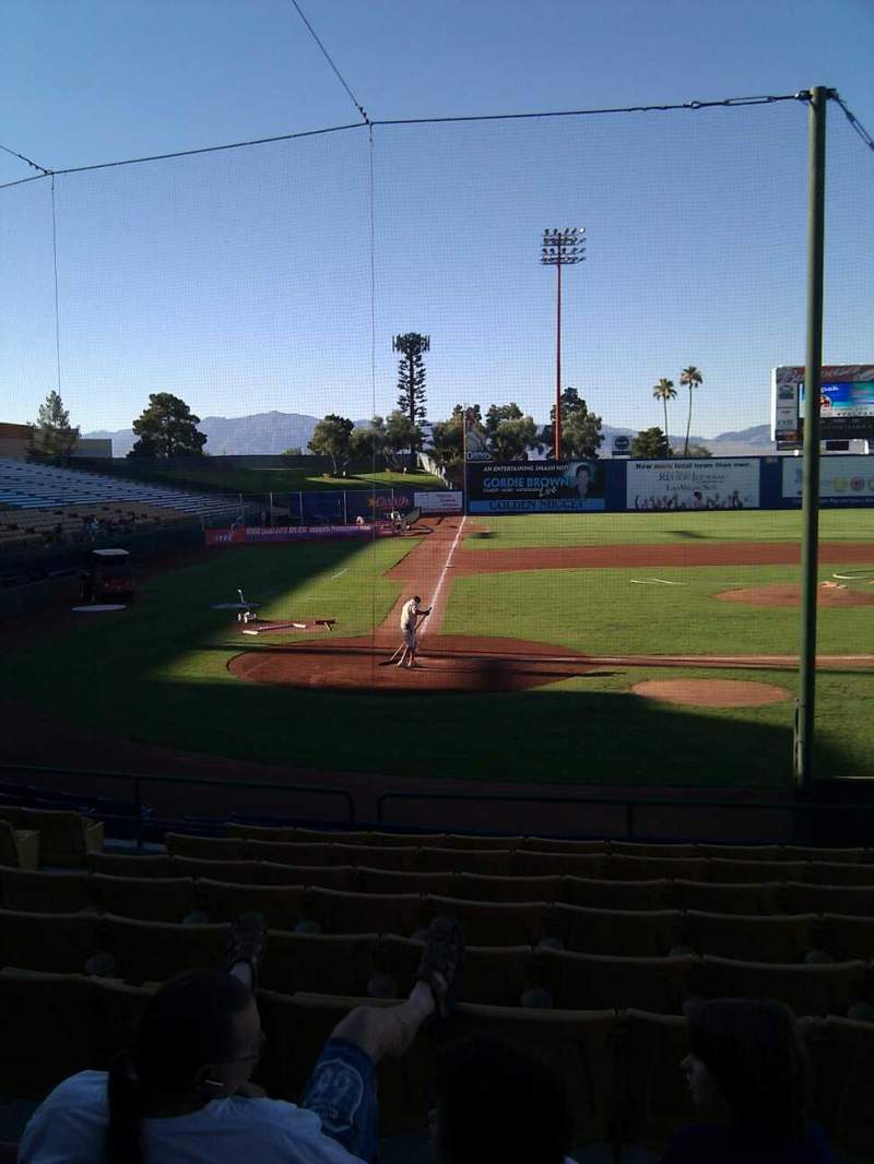 Seating view for Cashman Field Section 15 Row k Seat 7