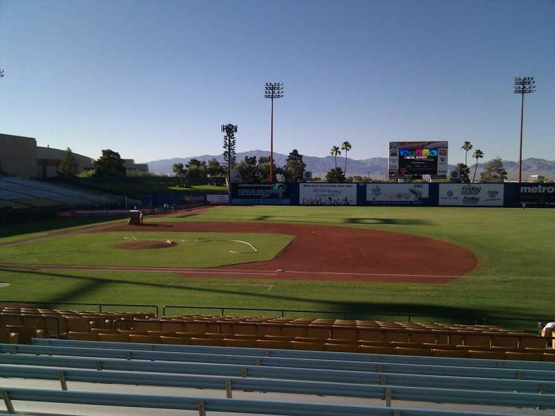 Seating view for Cashman Field Section 18 Row v Seat 12