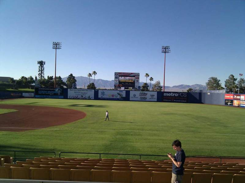 Seating view for Cashman Field Section 19 Row o Seat 9