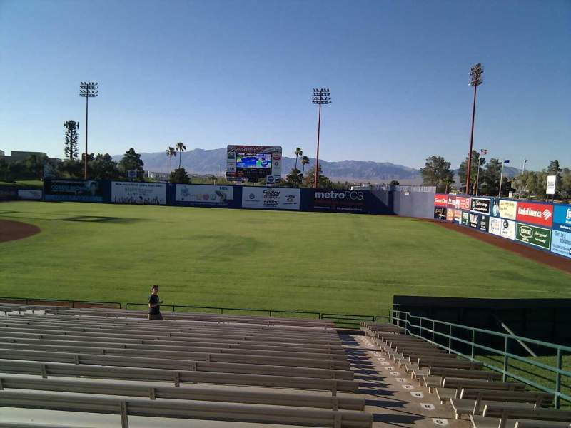Seating view for Cashman Field Section 21 Row zz Seat 15