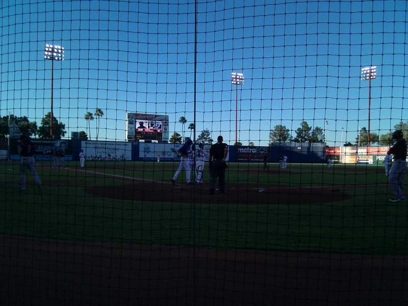 Seating view for Cashman Field Section C Row 2 Seat 4